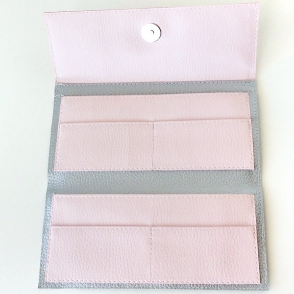 Blush Pink And Silver Clutch Wallet