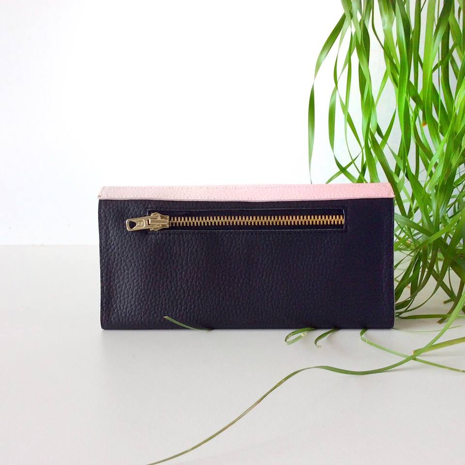 Blush Pink And Black Ladies Wallet