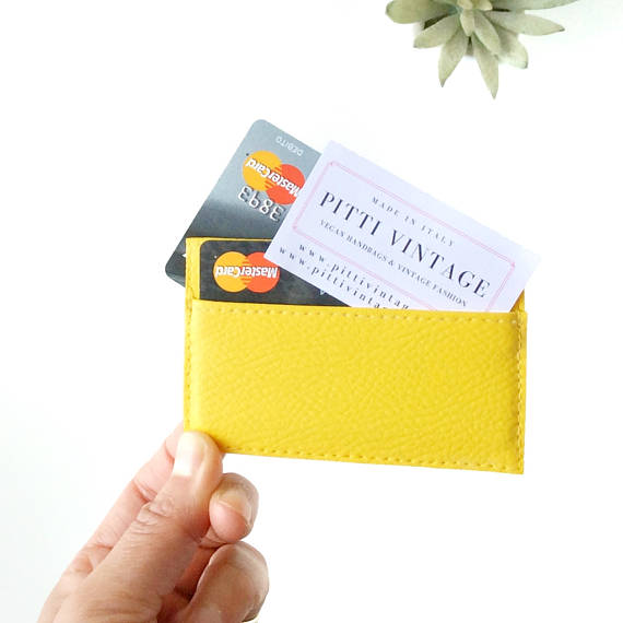 YELLOW CREDIT CARD CASE