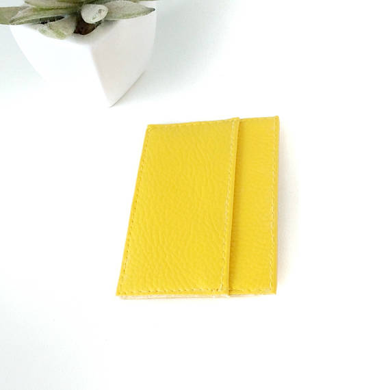Credit Card Holder For Women Yellow CHOOSE YOUR COLOR