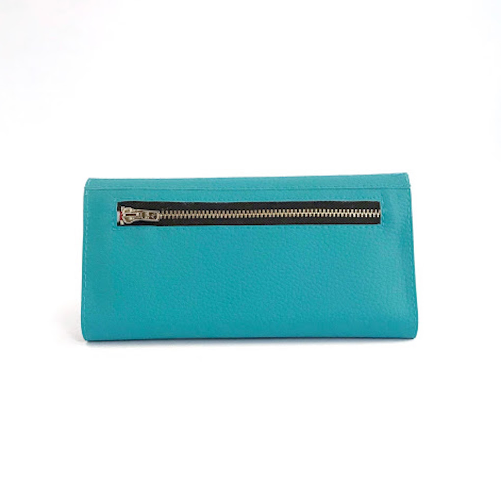 Women Wallet Turquoise | Sustainable Wallet - Pitti Vintage