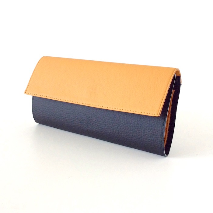Wallet for Women, Beige and Black Vegan Leather OTHER COLORS