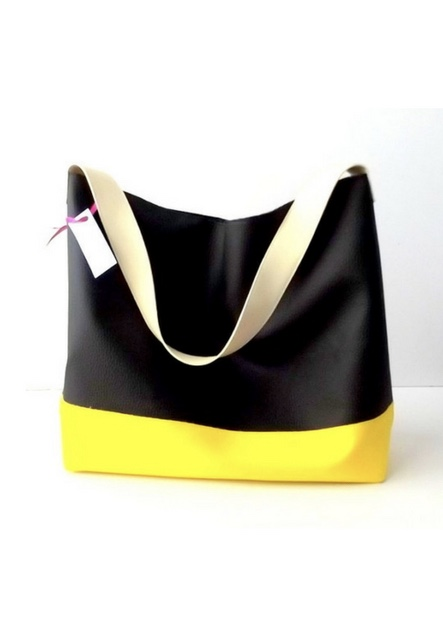 Black and Yellow Hobo Bag Vegan, Choose Your Colors