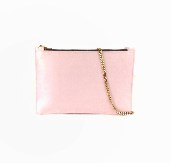 BLUSH PINK CHAIN CROSSBODY BAG, CHOOSE YOUR COLOR