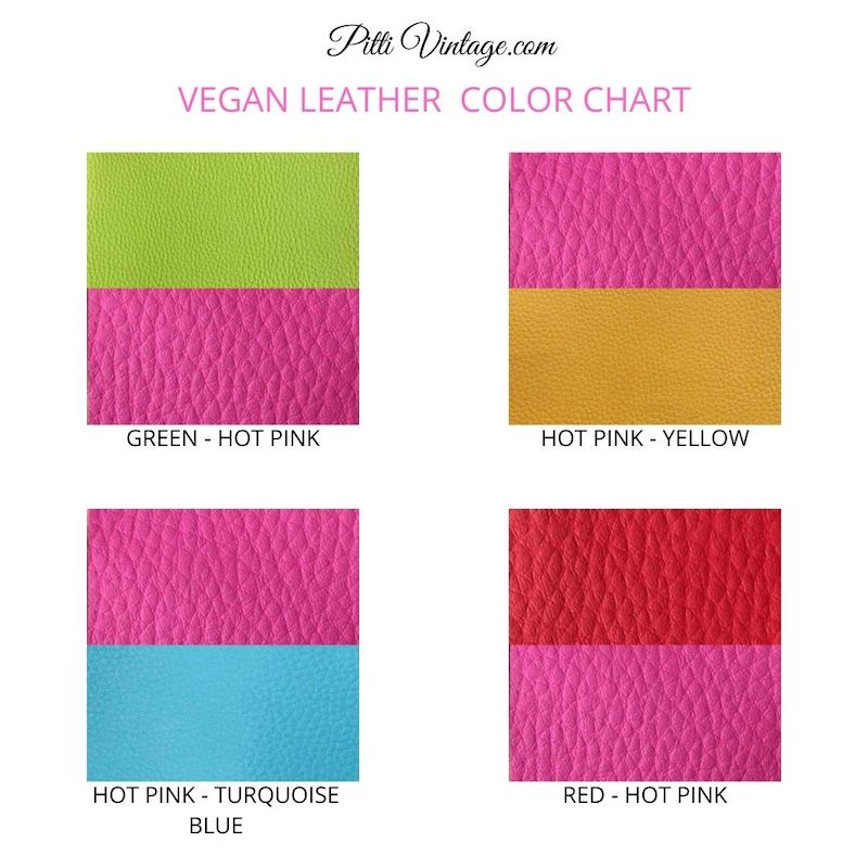 Tri Fold Womens Wallet, Pink and Green Wallet Choose Your Colors