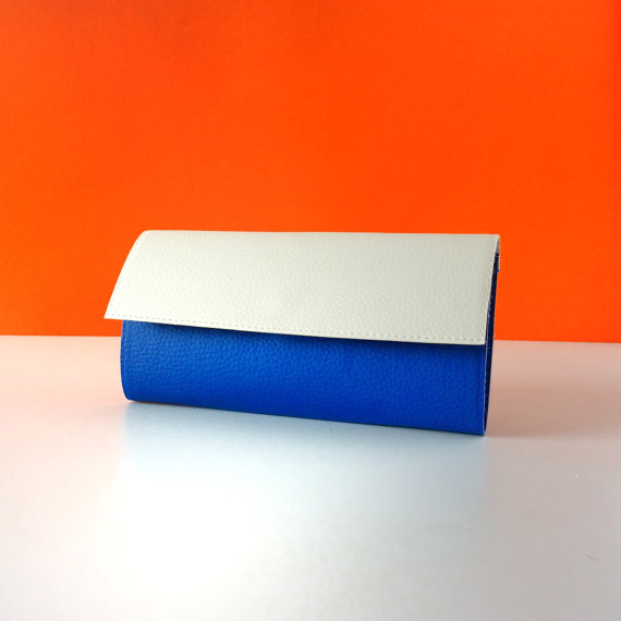 Credit Card Wallet for Women White Blue, Other Colors Available