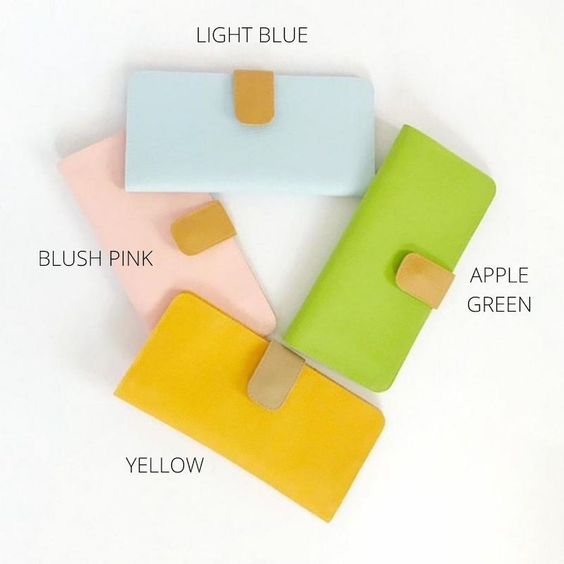 Light Blue Traveling Wallet Vegan, Choose Your Color