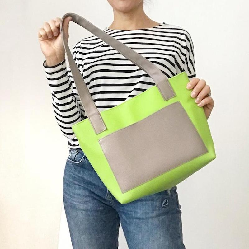 MINI TOTE VEGAN - GREEN TOTE BAG - PITTI VINTAGE