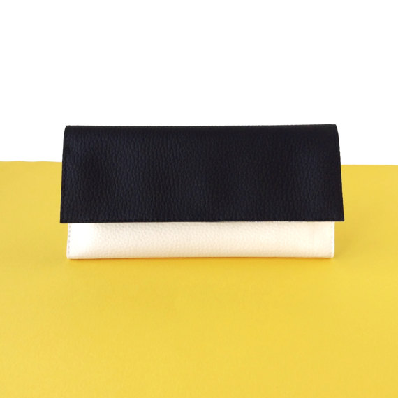 womens credit card holder wallet, Black and White Minimalist