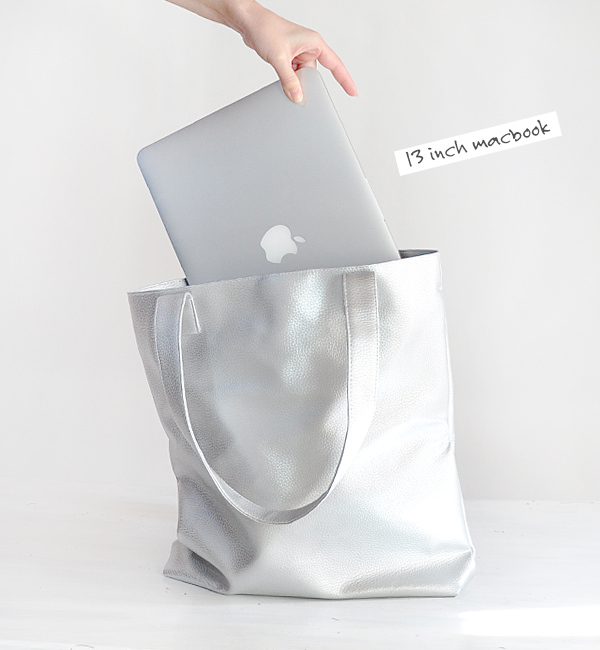 SILVER TOTE, CHOOSE YOUR COLOR