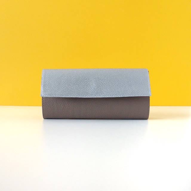Vegan Leather Wallet, Silver and Grey Wallet for Her