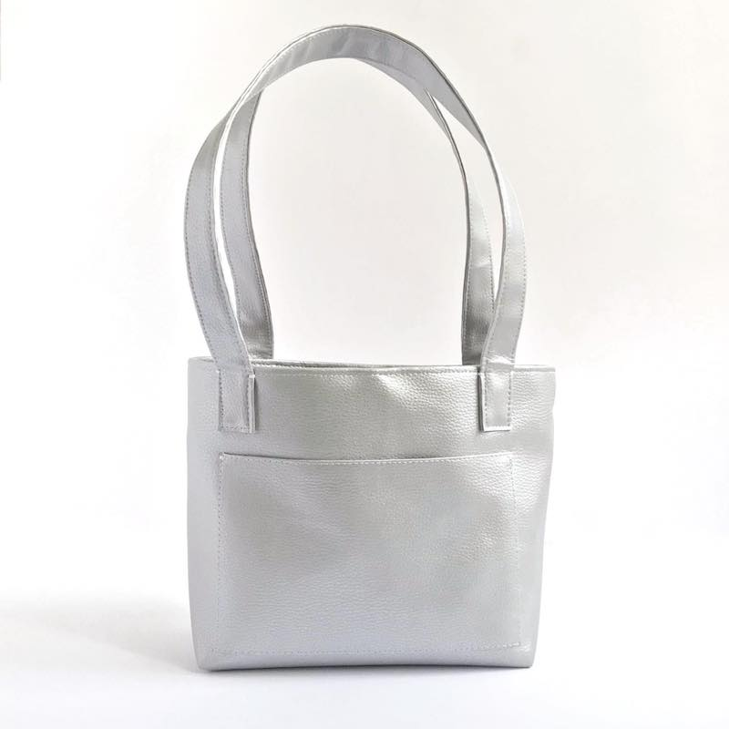 SILVER VEGAN SHOPPER SMALL | PITTI VINTAGE