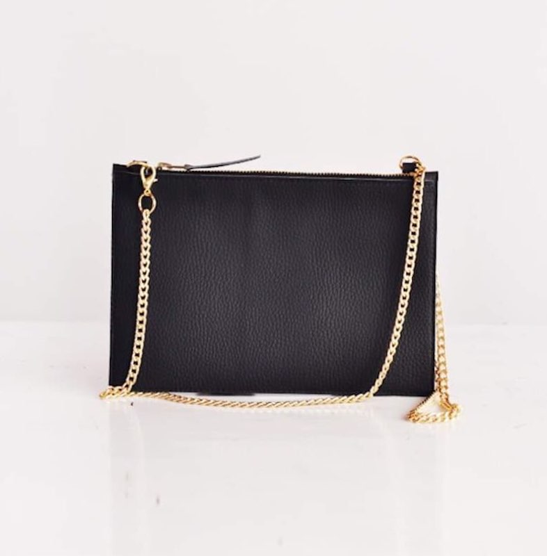 Small Crossbody Bag in Black Vegan Leather, Choose Color