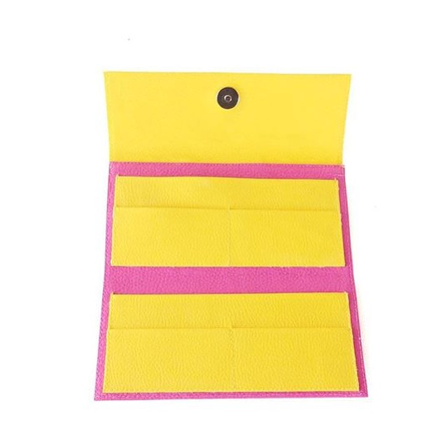 Credit Card Wallet Womens, Pink and Yellow Colour Pop