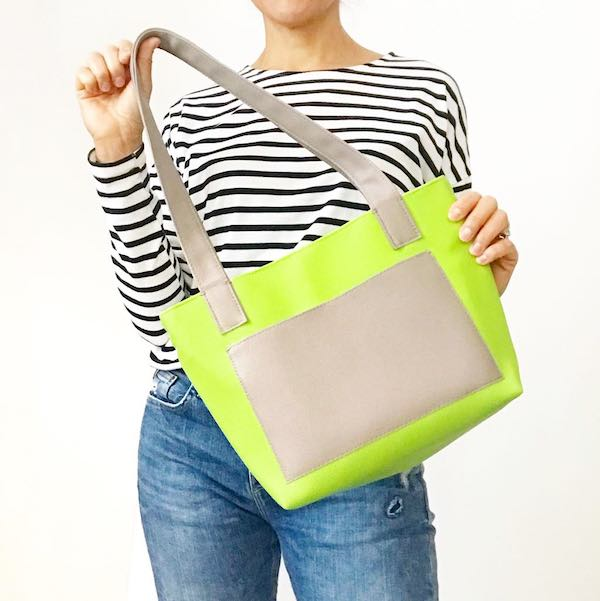 YELLOW SMALL TOTE BAG, CHOOSE YOUR COLORS